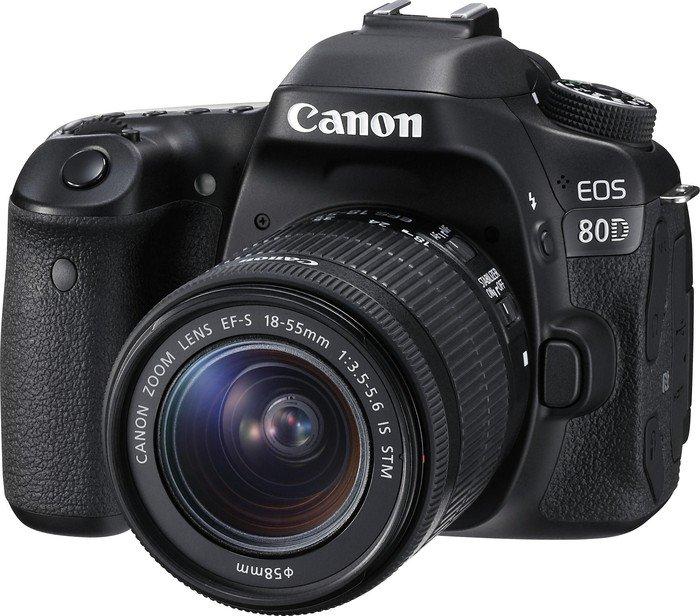 Canon EOS 80D schwarz mit Objektiv EF-S 18-55mm 3.5-5.6 IS STM (1263C034)