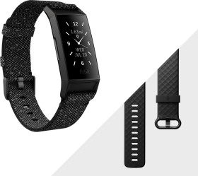 Fitbit Charge 4 Special Edition Aktivitäts-Tracker schwarz/granit (FB417BKGY)