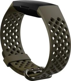 Fitbit Ersatzarmband Sport für Charge 4 und Charge 3 evergreen (FB168SBGNL)