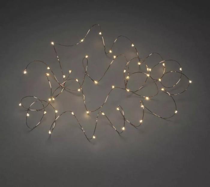 Weihnachtsbeleuchtung Tropfen.Konstsmide Led Tropfen Lichterkette Kupfer 50x Bernstein 6386 860