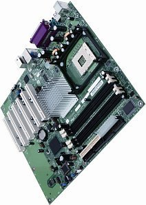 Intel D865GBFLK, i865G (dual PC-3200 DDR)