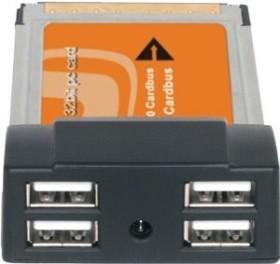 Techsolo TN-270, 4x USB 2.0, Cardbus
