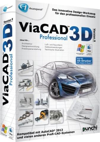 Punch!: ViaCAD 3D Pro 9.0 (deutsch) (PC/MAC) -- via Amazon Partnerprogramm