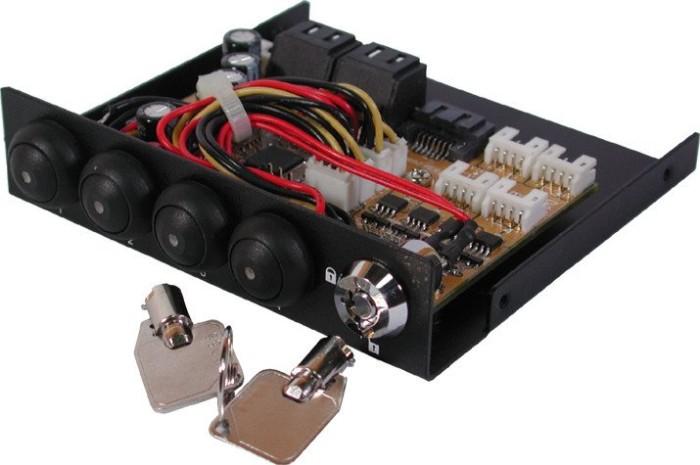 "Exsys EX-3466, 3.5"", 4-Port SATA 3Gb/s Multiplier"