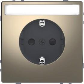 Merten System Design SCHUKO-Steckdose, nickelmetallic (MEG2302-6050)