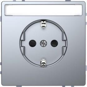 Merten System Design SCHUKO-Steckdose, edelstahl (MEG2302-6036)