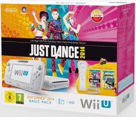 Nintendo Wii U Basic Pack - 8GB Just Dance 2014 Bundle weiß