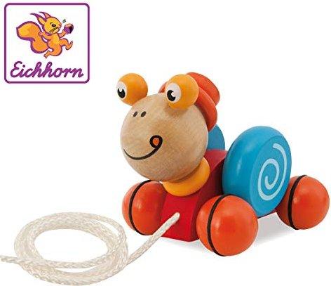 Holzspielzeug Eichhorn Nachziehtier Schnecke Babyspielzeug Schiebetier Holzspielzeug Ziehtier