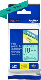 Brother TZe-741 label-making tape 18mm, black/green (TZE741)