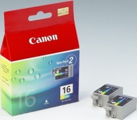 Canon ink BCI-16 tricolour, 2-pack (9818A002)