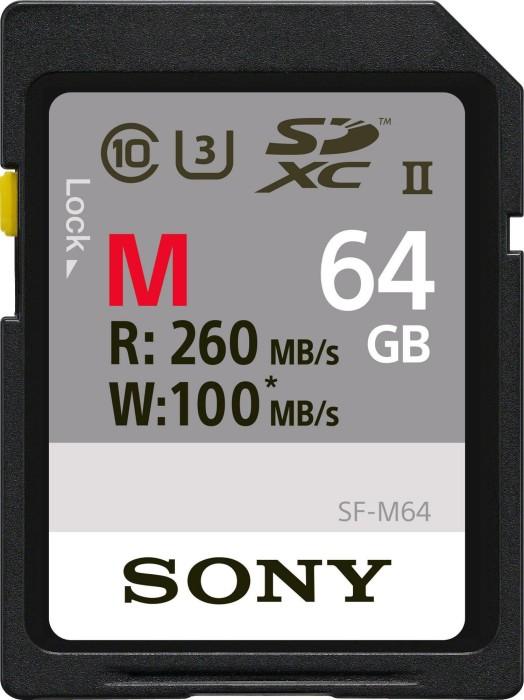 Sony SF-M Series R260/W100 SDXC 64GB, UHS-II U3, Class 10 (SF64M/SF-M64)