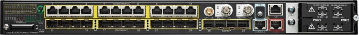 Cisco IE 5000 LAN Base Hardened Industrial Rackmount Gigabit Managed switch, 12x RJ-45, 16x SFP, PoE+ (IE-5000-16S12P)