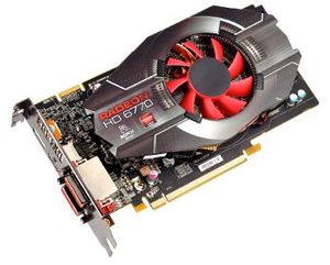 XFX Radeon HD 6770, 1GB GDDR5, 2x DVI, HDMI, DisplayPort (HD-677X-ZHLC)