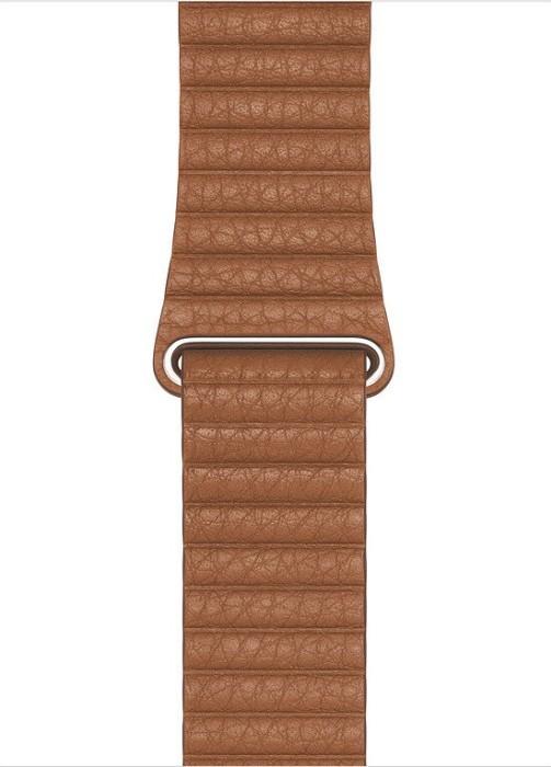 Apple Lederarmband mit Schlaufe Large für Apple Watch 44mm sattelbraun (MXAG2ZM/A)