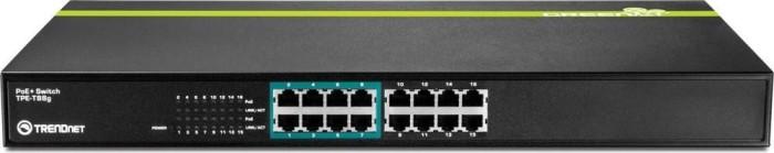 TRENDnet TPE-T Rackmount Switch, 16x RJ-45, 120W PoE+ (TPE-T88g)