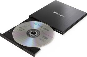 Verbatim Ultra HD 4K External Slimline Blu-ray Writer, USB-C 3.0 (43888)