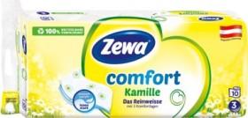 Zewa comfort Das Reinweisse Kamille 3-lagig Toilettenpapier weiß, 10 Rollen