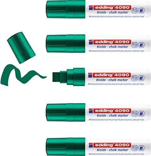 edding 4090 Kreidemarker grün, 5er-Pack (4-4090004) -- via Amazon Partnerprogramm