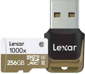 Lexar Professional 1000x R150/W90 microSDXC 256GB Kit, UHS-II U3, Class 10 (LSDMI256CBEU1000R)