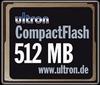 Ultron CompactFlash Card (CF)  512MB (UCF-512) (2947)