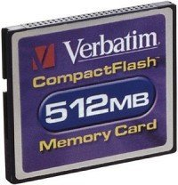 Verbatim CompactFlash Card (CF) 512MB (47009)