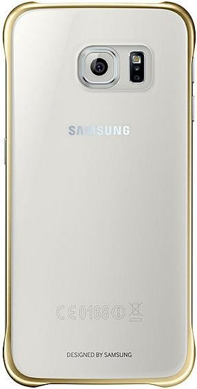 Samsung Clear Cover für Galaxy S6 gold (EF-QG920BFEGWW)