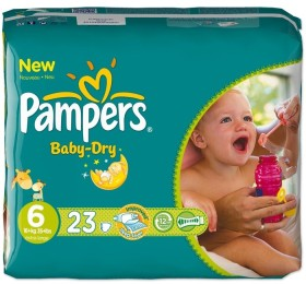 Pampers Baby-Dry Gr.6 disposable nappy, 16-35kg, 23 pieces