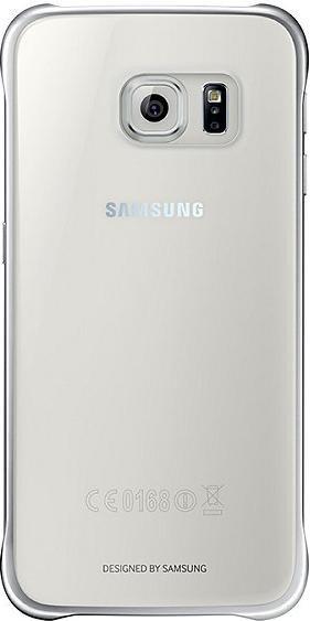 Samsung Clear Cover für Galaxy S6 silber (EF-QG920BSEGWW)