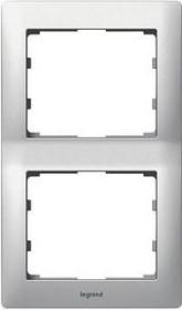 Legrand Galea Life Rahmen 2-fach senkrecht, brushed aluminium (771956)