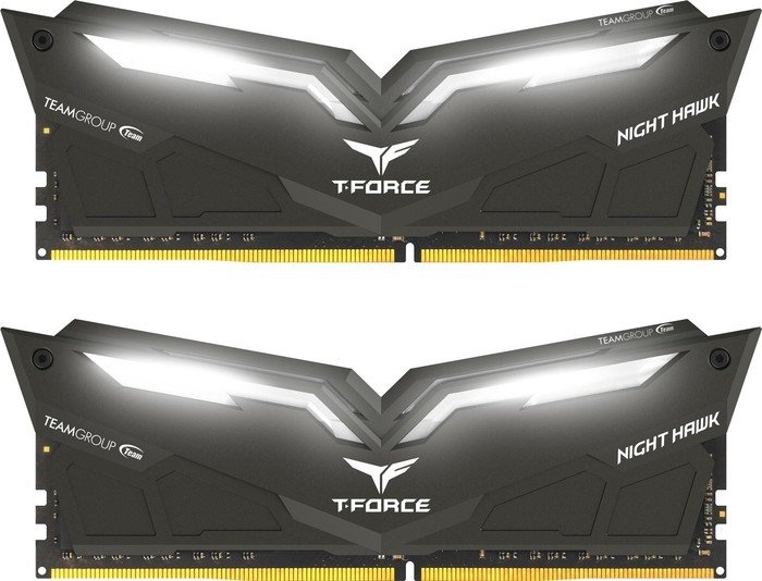TeamGroup T-Force Night Hawk weiß DIMM Kit 32GB, DDR4-3000, CL16-18-18-38 (THWD432G3000HC16CDC01)