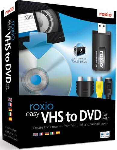 Roxio: Easy VHS to DVD (multilingual) (MAC) (243100EU) -- via Amazon Partnerprogramm