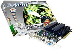 Xelo GeForceFX 5500XT, GeForceFX 5200, 256MB DDR, VGA, DVI, TV-out, AGP