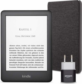 Amazon Kindle J9G29R 2019 black, with Advertising, Essentials Bundle black