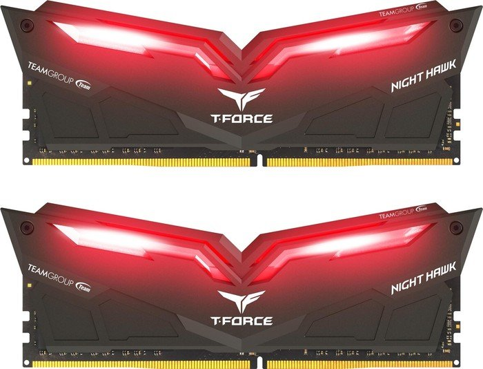TeamGroup T-Force Night Hawk rot DIMM Kit 32GB, DDR4-3000, CL16-18-18-38 (THRD432G3000HC16CDC01)