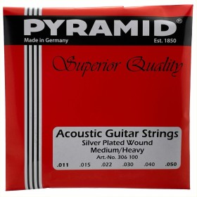 Pyramid Acoustic Silver plated superior Quality Medium/Heavy (306 100)