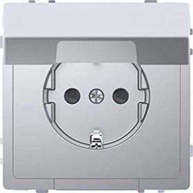 Merten System Design SCHUKO-Steckdose, edelstahl (MEG2310-6036)