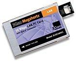 3Com 3CXE589EC Megaherz 10Mbps LAN Card with X-Jack, PCMCIA, retail