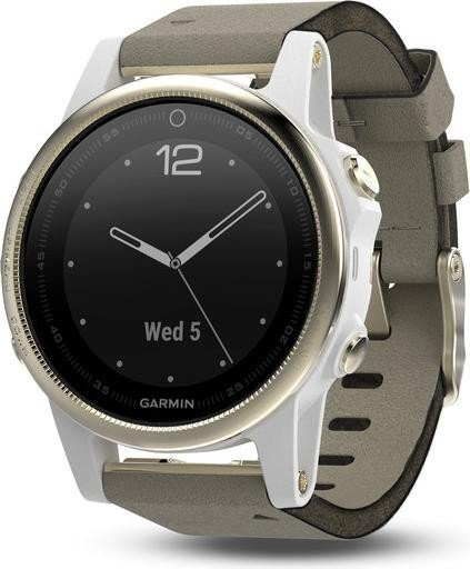 garmin fenix 5s sapphire champagne with leather bracelet 010 01685 13 starting from. Black Bedroom Furniture Sets. Home Design Ideas
