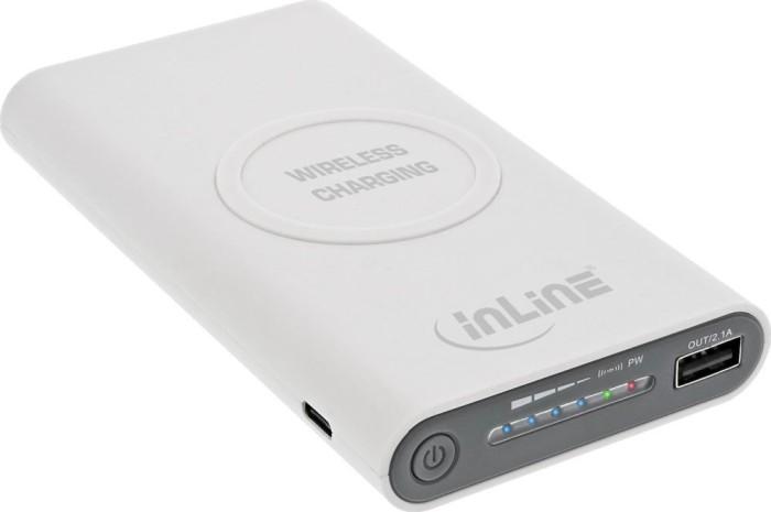 InLine Qi-Plate Powerbank 8000mAh weiß (01477W)