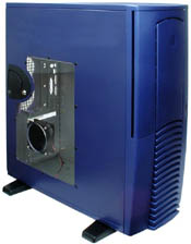 Chieftec Dragon DX-01BLD-F Midi-Tower with door and side panel window, blue (without power supply)