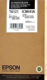 Epson Tinte T6121 schwarz photo (C13T612100)