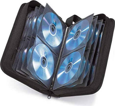Hama CD-/DVD-/Blu-ray-Tasche 80 schwarz (33832) -- via Amazon Partnerprogramm