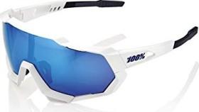 100% Speedtrap matte white/blue multilayer mirror (61023-000-75)