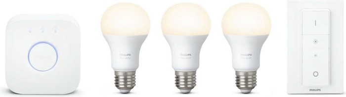 Philips Hue White LED-Bulb E27 9.5W Starter-Kit (728987-00)