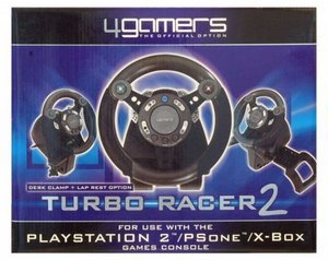 4Gamers Turbo Racer 2 (Steering wheel) (Xbox/PS2/PS1)