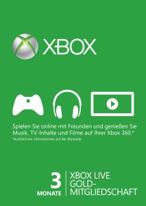 Microsoft Xbox Live Subscription Card - 3 Monats Abo (Xbox One/Xbox 360) (ZE4-00006)
