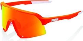 100% S3 neon orange/hiper red multilayer mirror lens-clear lens (61034-006-43)