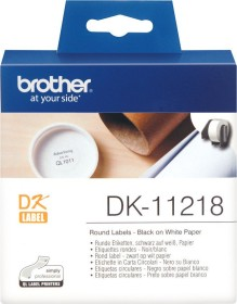 Brother DK-11218 labels circular 24mm, white, 1 Role (DK11218)