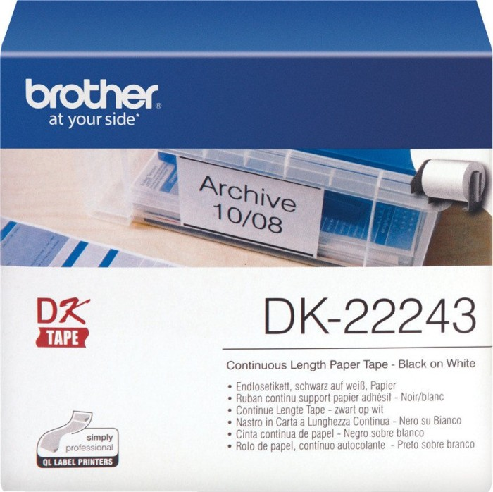 Brother DK-22243 continous labels -- via Amazon Partnerprogramm