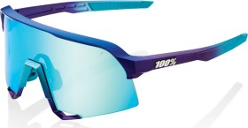 100% S3 matte metallic into the fade/blue topaz multilayer mirror lens-clear lens (61034-390-69)